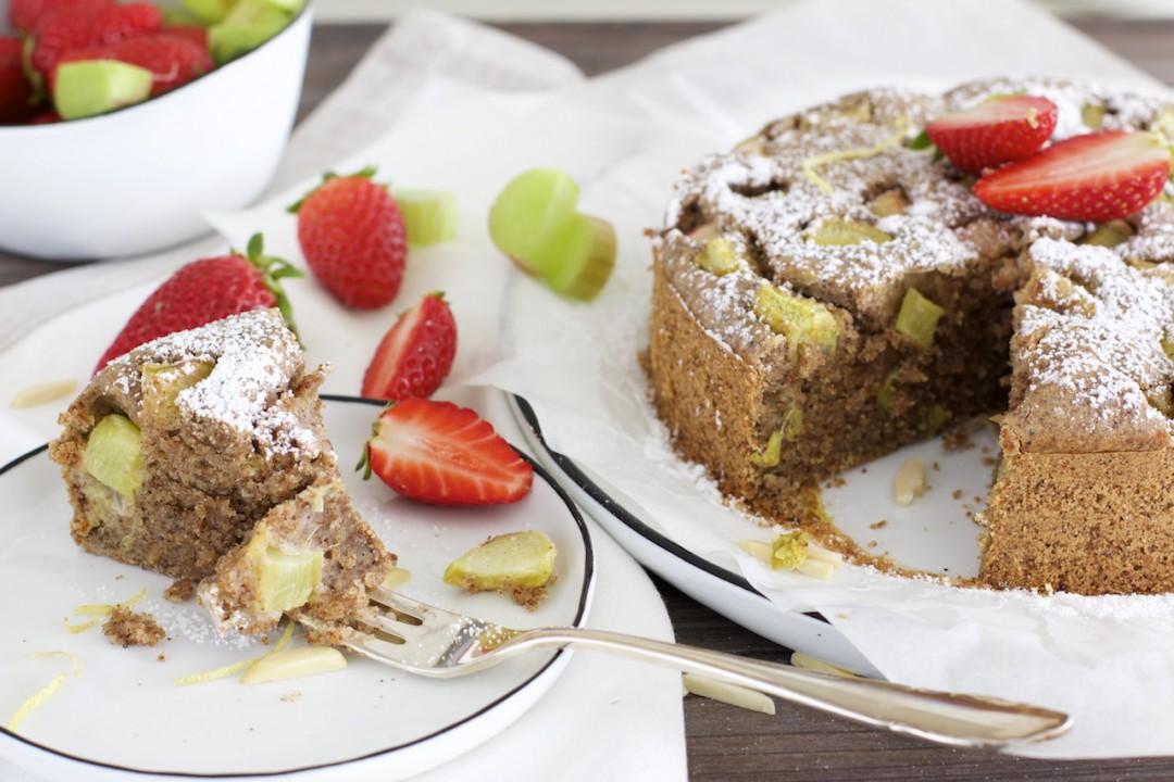 Rhabarber Quinoa Kuchen Vegan Glutenfrei Naturallygood