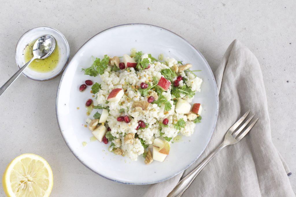 8 einfache meal prep tipps rezept hirse apfel salat naturallygood. Black Bedroom Furniture Sets. Home Design Ideas