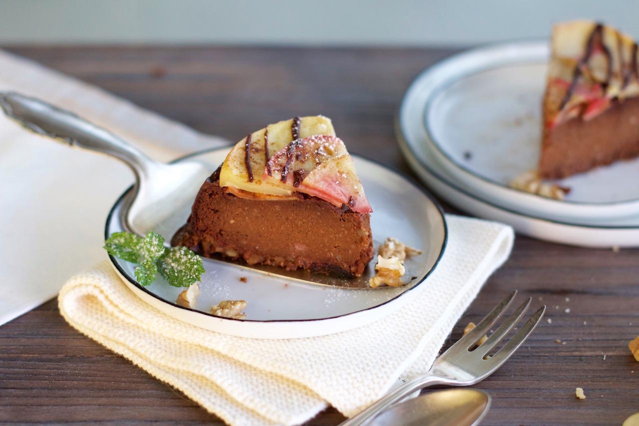 700+ Gesunder Apfel Schokoladen Kuchen vegan & glutenfrei   ohne Zucker