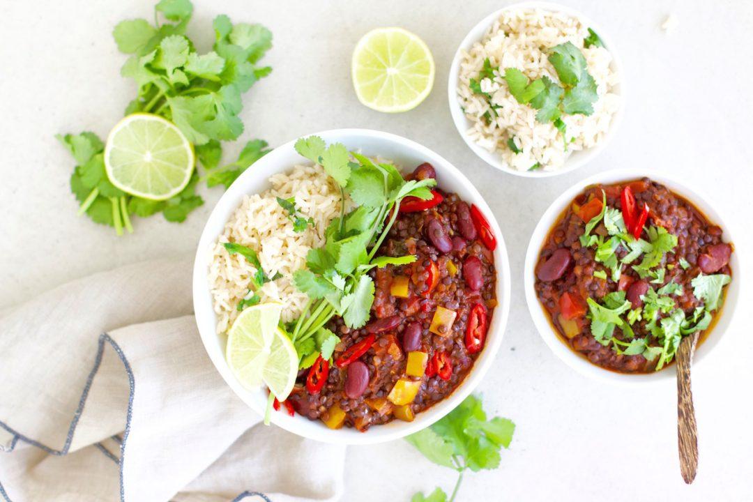 tex mex chili bowl vegan glutenfrei warum ist pflanzliches eiwei so gut f r uns. Black Bedroom Furniture Sets. Home Design Ideas