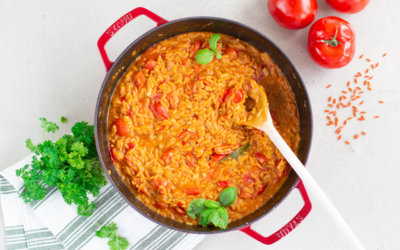Linsen-Tomaten-Risotto – ohne Reis. {cremig & vegan}